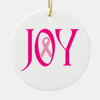 Breast Cancer Joy Ceramic Ornament