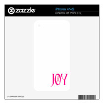 Breast Cancer Joy Decals For The iPhone 4
