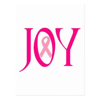 Breast Cancer Joy Postcard