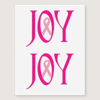 Breast Cancer Joy Temporary Tattoos
