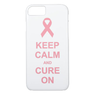 Breast Cancer Keep Calm and Cure On iPhone 7 Case
