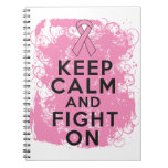 Breast Cancer Keep Calm and Fight On.png Notebook