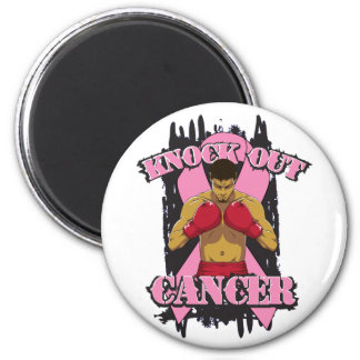 Breast Cancer Knock Out Cancer 2 Inch Round Magnet