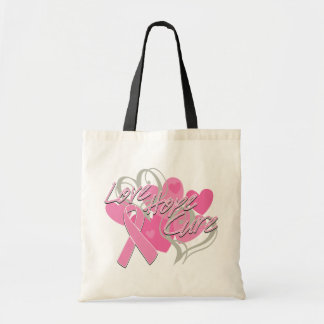 Breast Cancer Love Hope Cure Canvas Bag