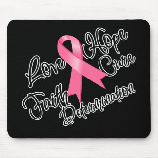 Breast Cancer Love Hope Determination Mouse Pad