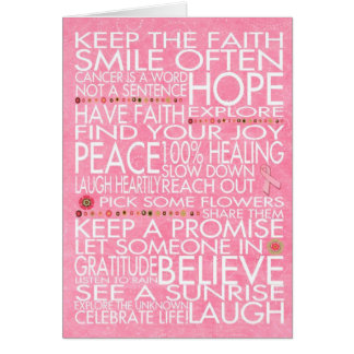 Breast Cancer Love quotes and gifts Greeting Card