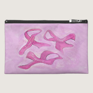 Breast Cancer Makeup Bag 3 Pink Ribbons