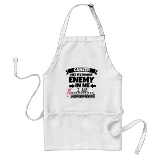 Breast Cancer Met Its Worst Enemy in Me Adult Apron
