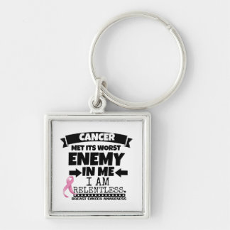 Breast Cancer Met Its Worst Enemy in Me Keychain