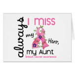 Breast Cancer Miss My Aunt 3 Greeting Card