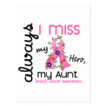 Breast Cancer Miss My Aunt 3 Postcard