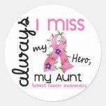 Breast Cancer Miss My Aunt 3 Round Sticker