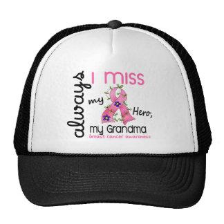 Breast Cancer Miss My Grandma 3 Trucker Hat