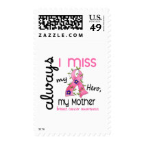 Breast Cancer Miss My Mother 3 Postage Stamps