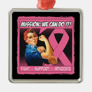 Breast Cancer Mission We Can Do It Christmas Tree Ornaments