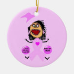 Breast Cancer Mom Ornament