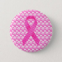 Breast Cancer Month Pink Ribbon Pinback Button