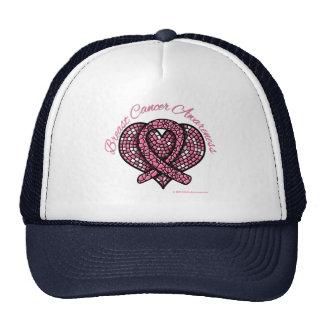 Breast Cancer Mosaic Heart Ribbon Trucker Hat