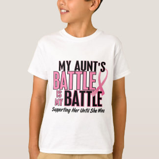 Breast Cancer My BATTLE TOO 1 Aunt T-Shirt