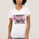 Breast Cancer My BATTLE TOO 1 Daughter Tshirt