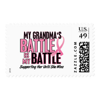 Breast Cancer My BATTLE TOO 1 Grandma Postage Stamp