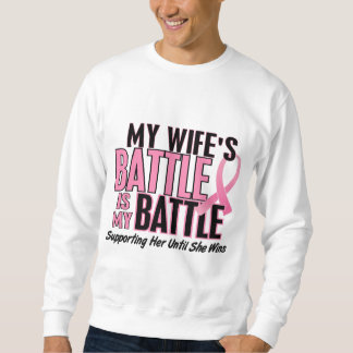 Breast Cancer My BATTLE TOO 1 Wife Sweatshirt