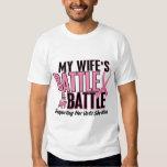 Breast Cancer My BATTLE TOO 1 Wife Tee Shirt