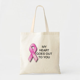 Breast Cancer My Heart Goes Out To You Hangbag Tote Bag
