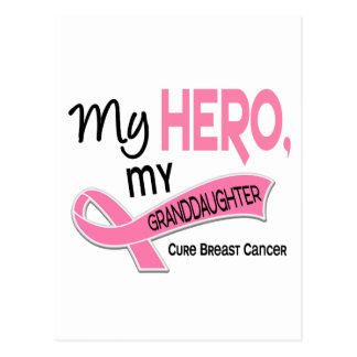 Breast Cancer MY HERO, MY GRANDDAUGHTER 42 Postcard