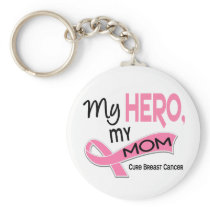 Breast Cancer MY HERO, MY MOM 42 Keychain