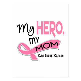 Breast Cancer MY HERO, MY MOM 42 Postcard