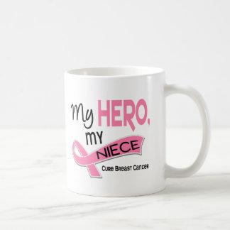 Breast Cancer MY HERO, MY NIECE 42 Classic White Coffee Mug
