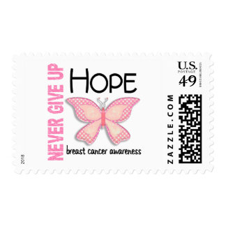Breast Cancer Never Give Up Hope Butterfly 4.1 Postage