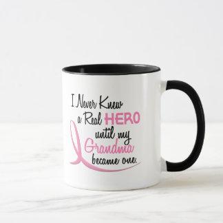 BREAST CANCER Never Knew A Hero 3 Grandma Mug