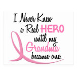 BREAST CANCER Never Knew A Hero 3 Grandma Postcards