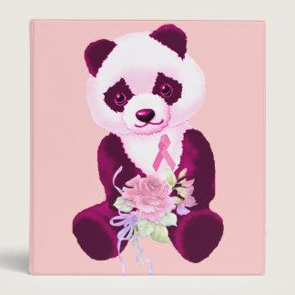 Breast Cancer Panda Bear 3 Ring Binder