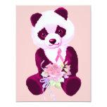 Breast Cancer Panda Bear Card