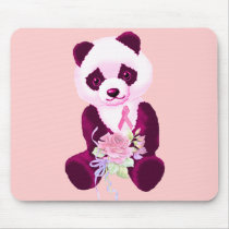 Breast Cancer Panda Bear Mouse Pad