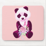 Breast Cancer Panda Bear Mouse Pads
