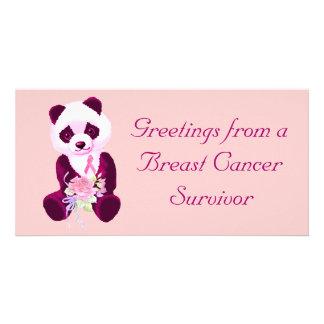 Breast Cancer Panda Bear Photo Card
