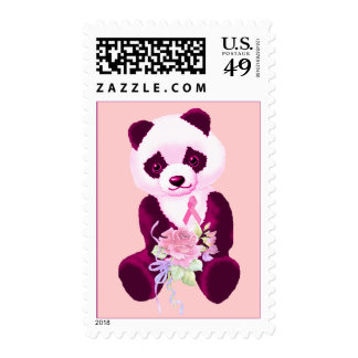 Breast Cancer Panda Bear Stamps