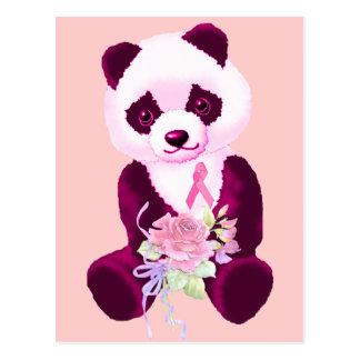 Breast Cancer Panda Bear Postcard
