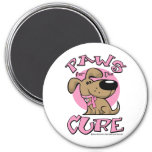 Breast Cancer Paws for the Cure Dog Refrigerator Magnets