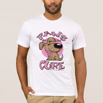 Breast Cancer Paws for the Cure Dog T-Shirt