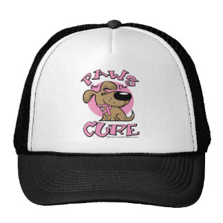 Breast Cancer Paws for the Cure Dog Trucker Hat