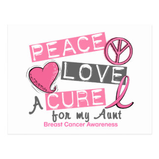 Breast Cancer PEACE, LOVE, A CURE 1 (Aunt) Postcard