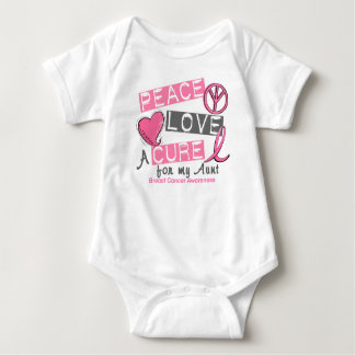 Breast Cancer PEACE, LOVE, A CURE 1 (Aunt) T Shirts