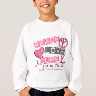Breast Cancer PEACE, LOVE, A CURE 1 (Friend) Sweatshirt