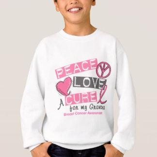 Breast Cancer PEACE, LOVE, A CURE 1 (Grandma) Sweatshirt