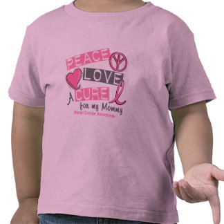 Breast Cancer PEACE, LOVE, A CURE 1 (Mommy) T-shirts